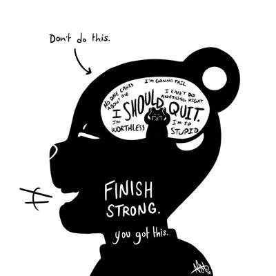 Mental health cartoon _ finals