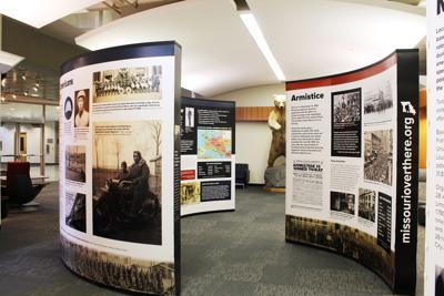 WW2 Library Museum Exhibit