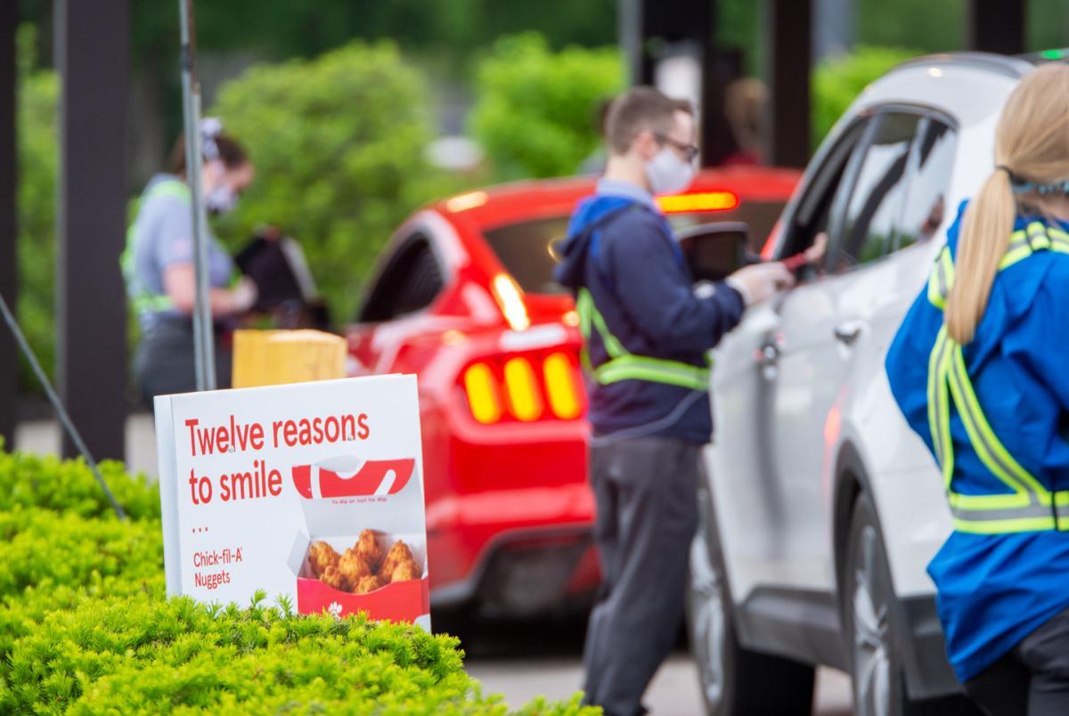 Chick-Fil-A drive-thru workers