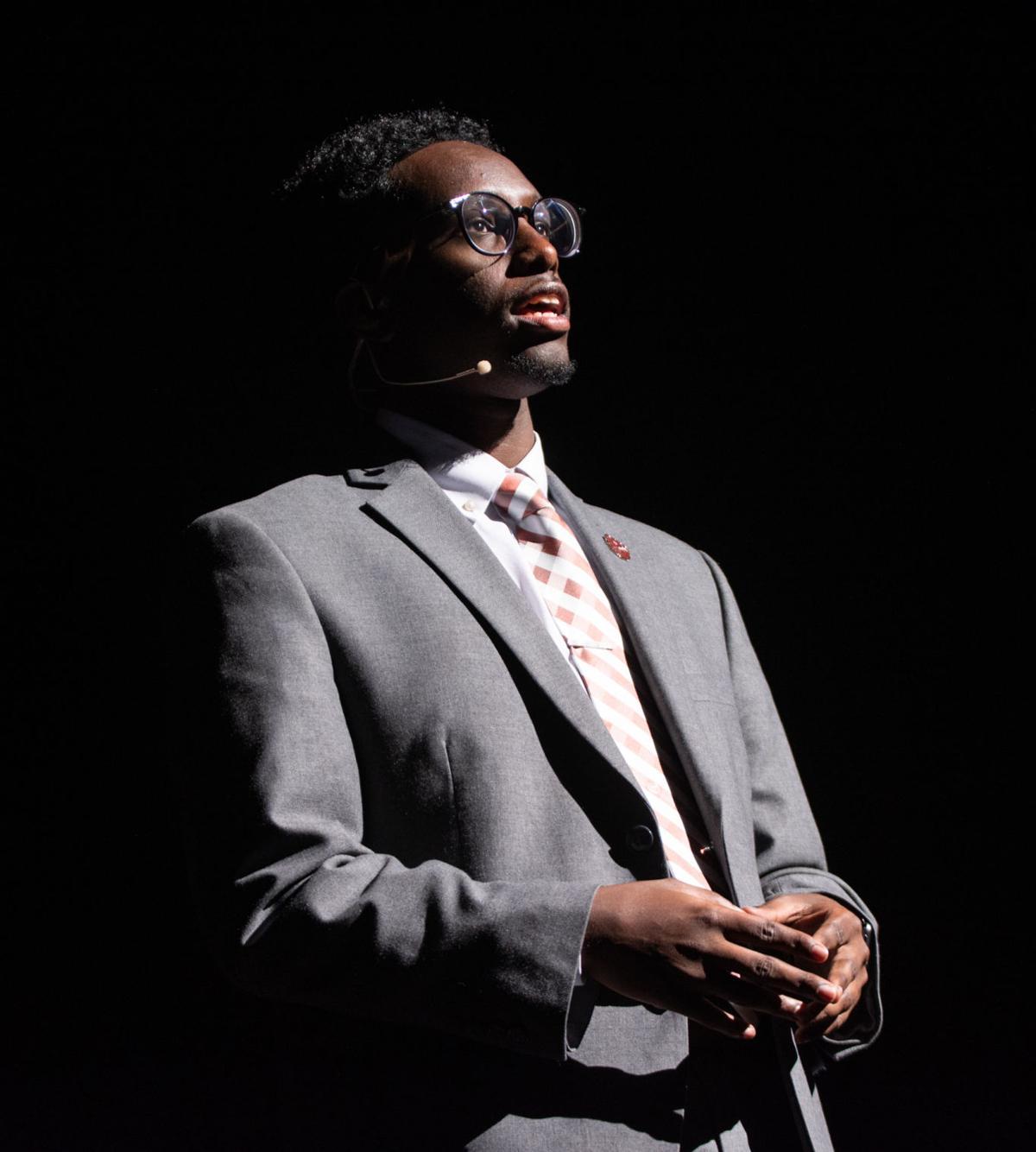 """Student Body President Abdillahi Dirie speaks at """"It's On!"""""""
