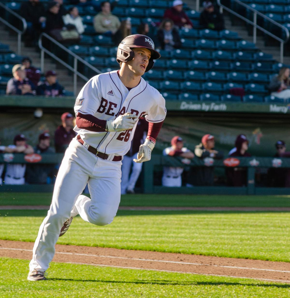 Greg Ziegler rounds the base.