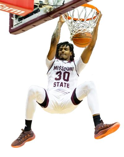 Senior Tulio Da Silva dunks the ball