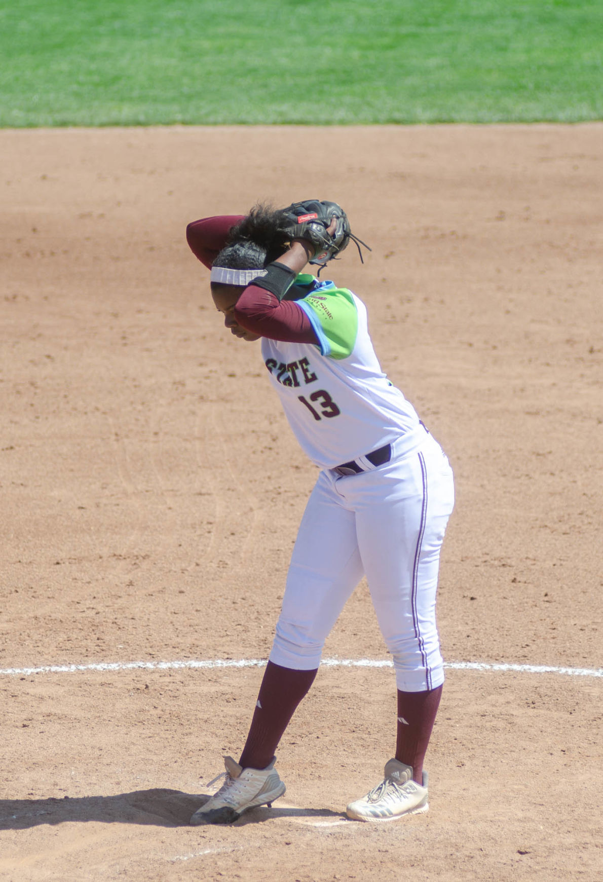 Steffany Dickerson winds up pitch