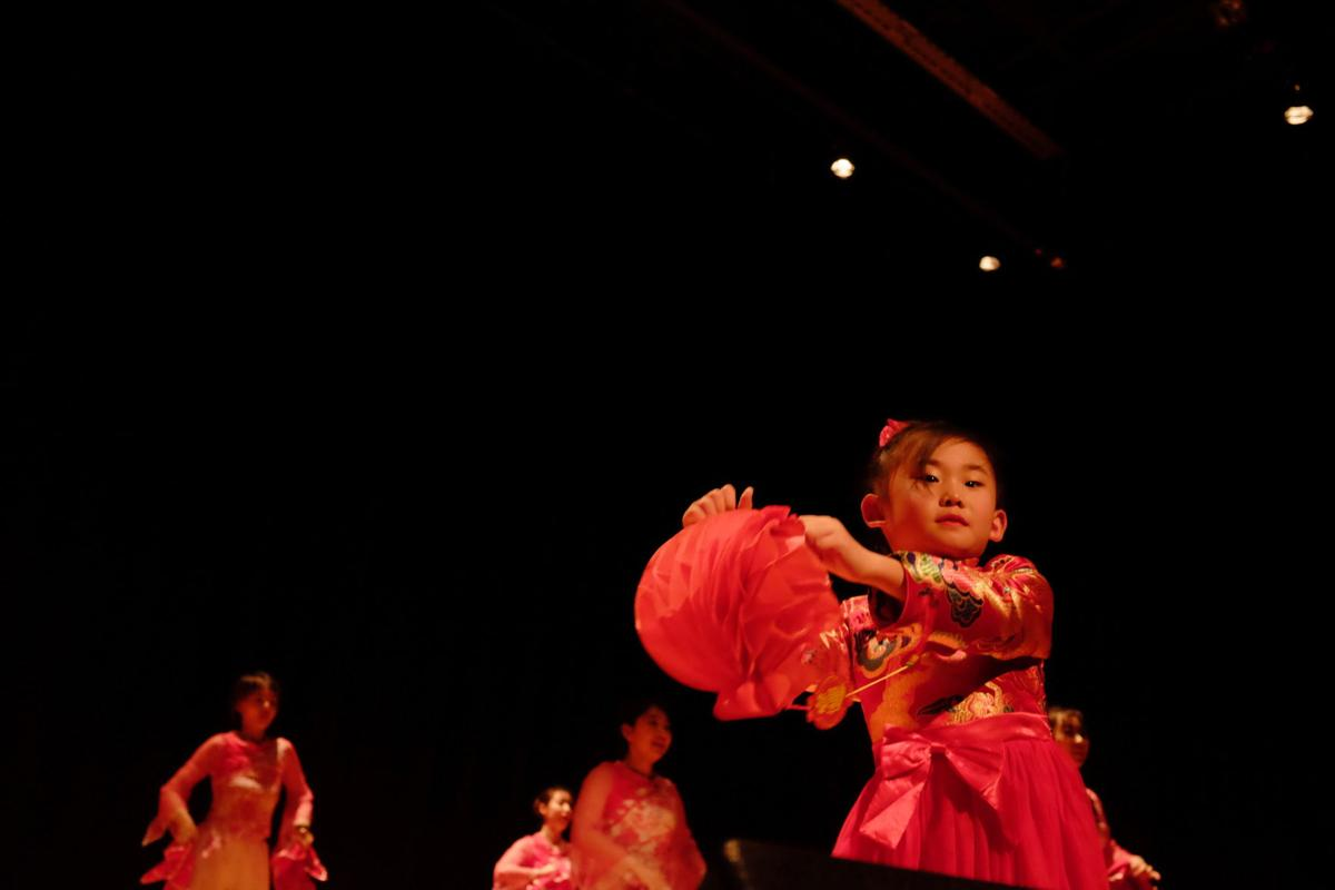 Dancers at the Chinese New Year celebration