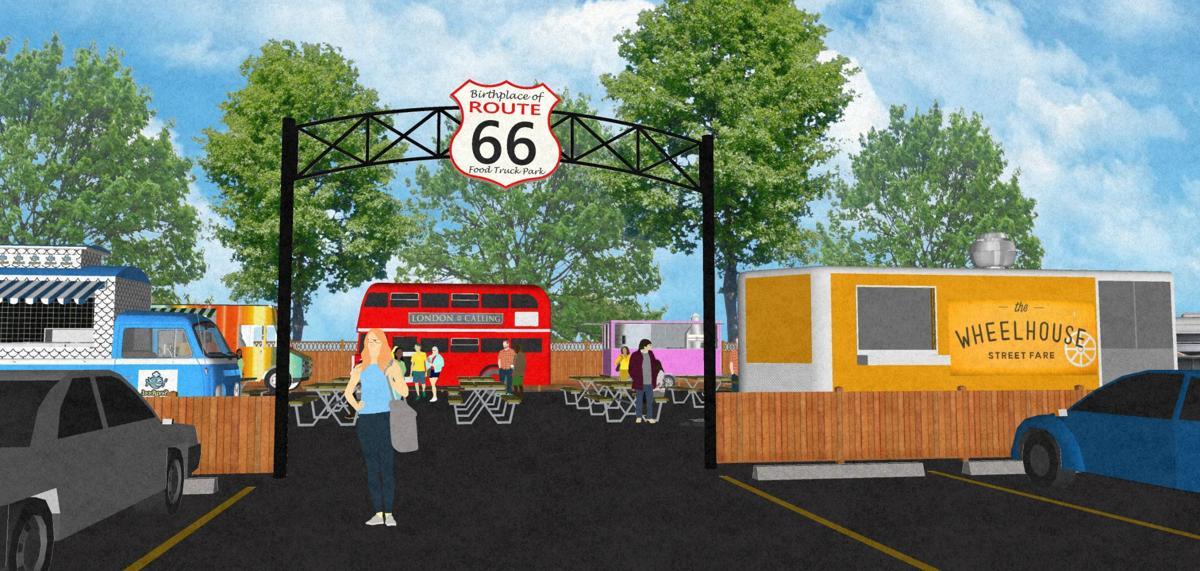 Route 66 food truck park