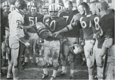 """Missouri State and Rolla had a football rivalry from 1953-1980 where the winner took home the """"Old Powder Keg"""" trophy"""