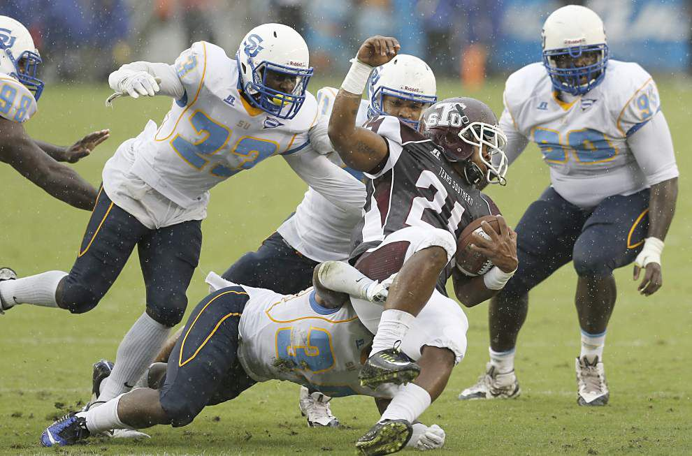 Photos: Southern sloshes its way to messy, but important, win at Texas Southern _lowres