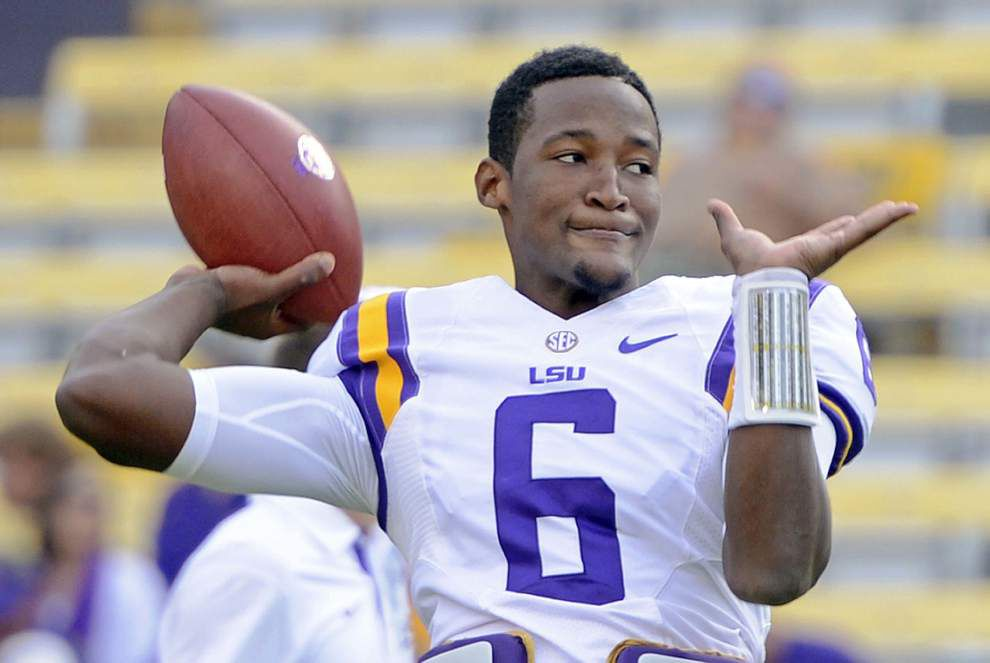 Balancing act: Brandon Harris' rapid development has LSU's offense clicking in both phases _lowres