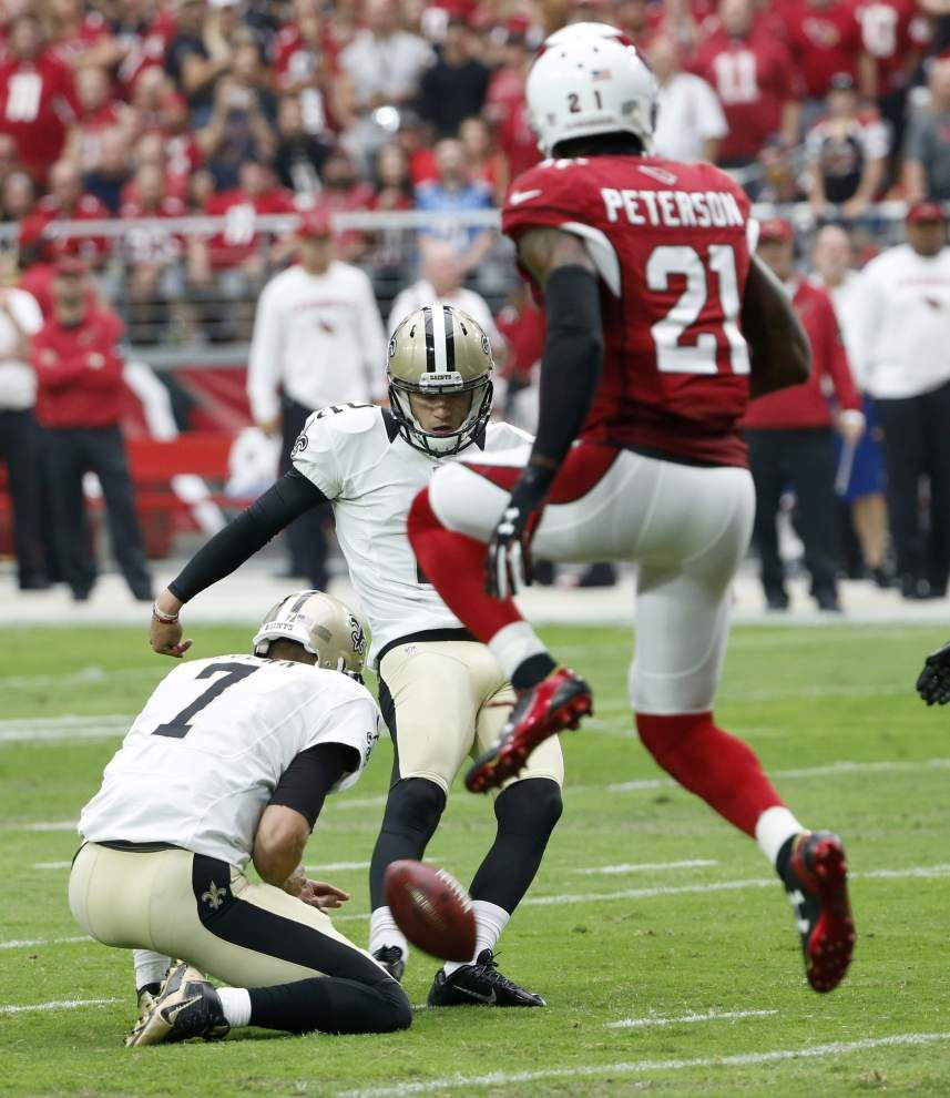 Saints notebook: Zach Hocker conquers nerves to nail four field goals _lowres