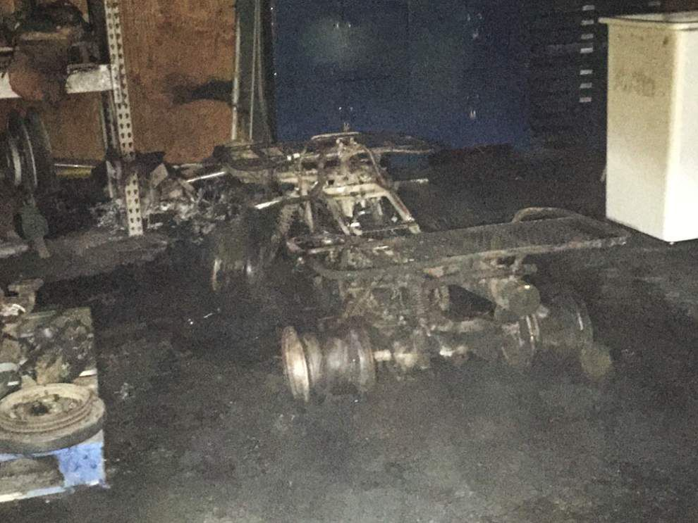 Scott firefighters find burned ATV inside commercial building early Thursday morning _lowres