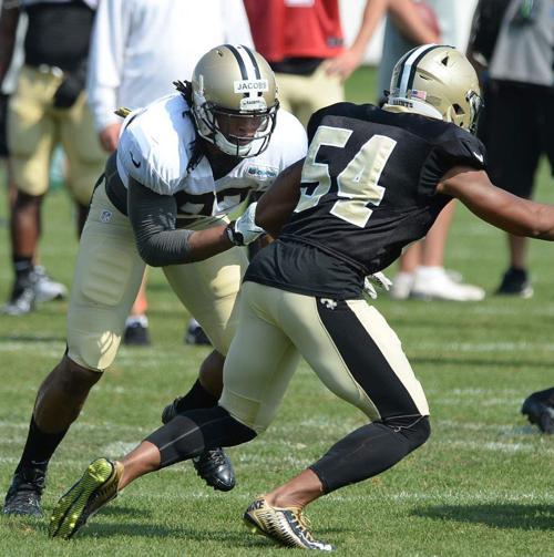 Rookie Khairi Fortt is disappointed he's on short-term IR list, but glad Saints are being cautious _lowres