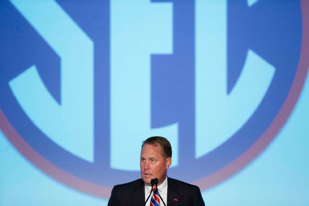 SEC Media Days 2015: LSU, Georgia and Ole Miss closed out the four-day session in Hoover _lowres