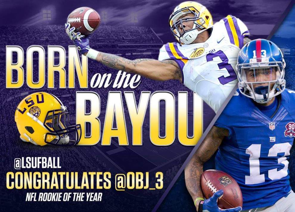 LSU celebrates Odell Beckham Jr.'s rookie of the year award with a billboard in Times Square _lowres