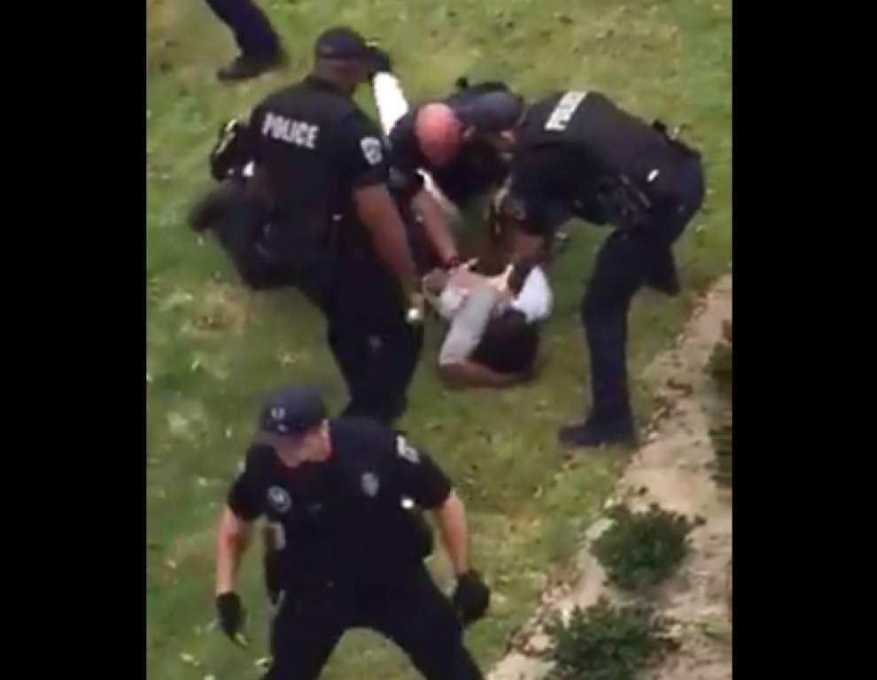 Baton Rouge police sergeant placed on paid leave in Earth Day incident; video shows apparent beating of teen _lowres