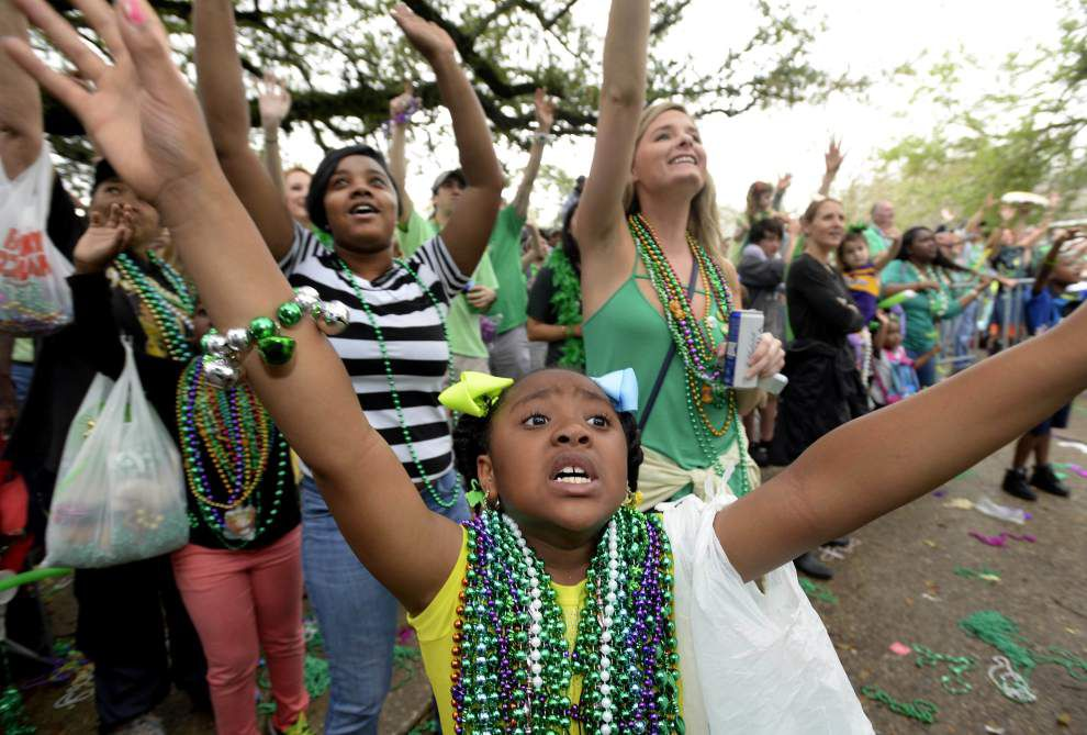 Can't rain on my parade: St. Patrick's Day parade rolls in Baton Rouge rain or shine _lowres