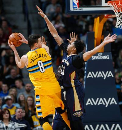 Anthony Davis overcomes illness;Pelicans rally by Nuggets _lowres