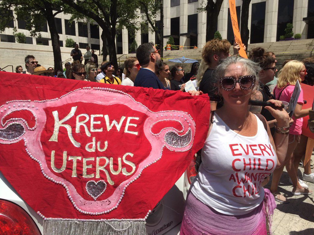 Photos: Hundreds of protesters gather at New Orleans rally for abortion rights