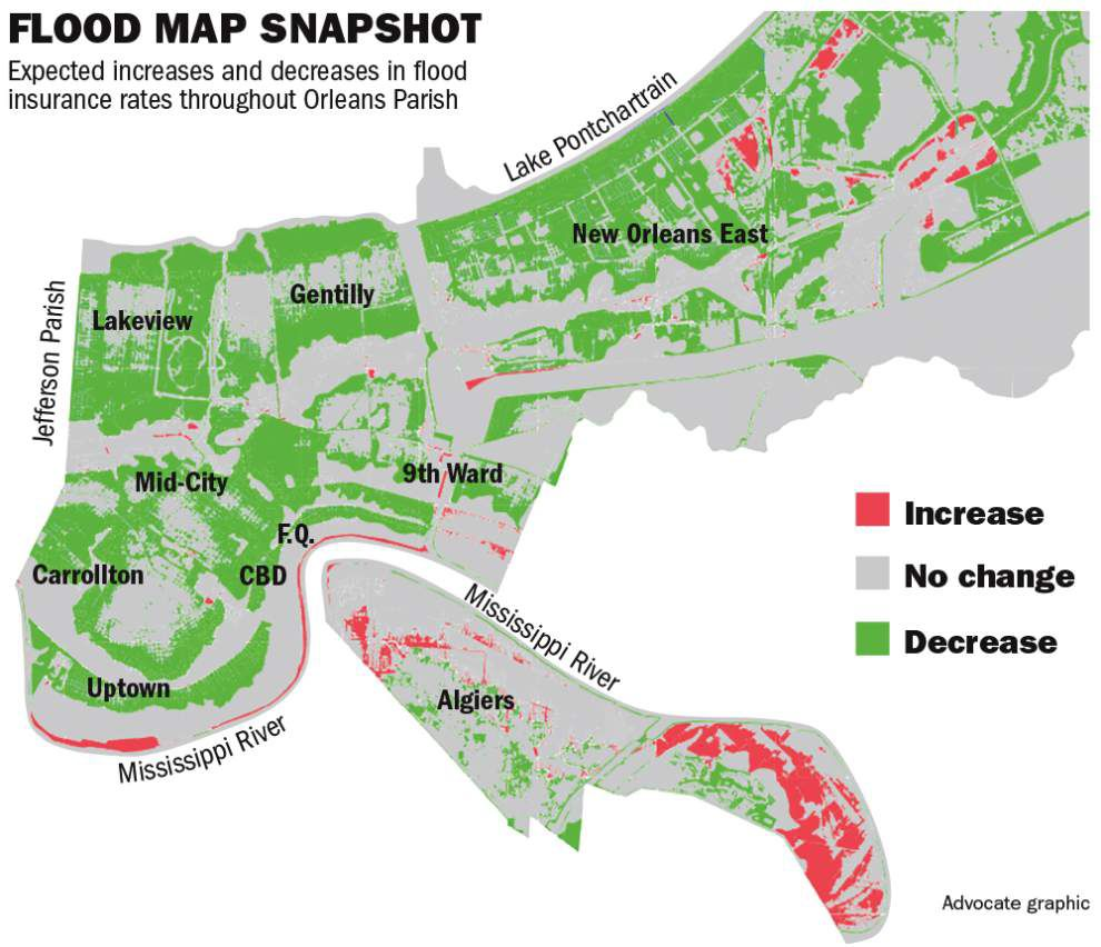 Check Out New FEMA Maps Thatll Likely Mean Cheaper Flood Insurance - Fema insurance rate map