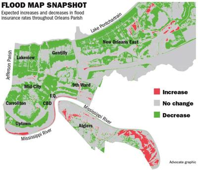 Check out new FEMA maps that'll likely mean cheaper flood insurance for thousands in New Orleans _lowres