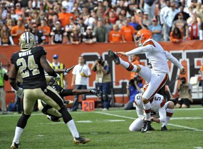 Cleveland Browns upset the New Orleans Saints 26-24. _lowres