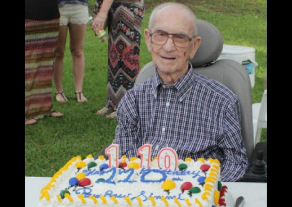 Nation's oldest man, Felix Simoneaux Jr. of LaPlace, dies a month before 111th birthday _lowres