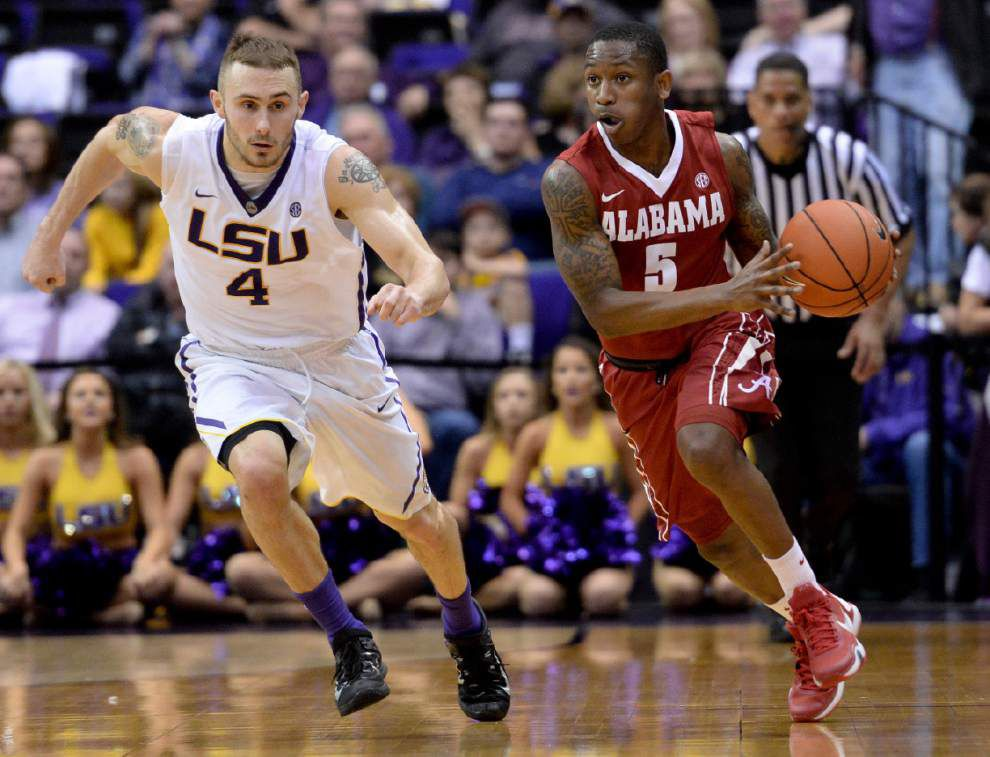 LSU guard Keith Hornsby still hurting after aggravating hernia injury, will likely miss Florida game Saturday _lowres