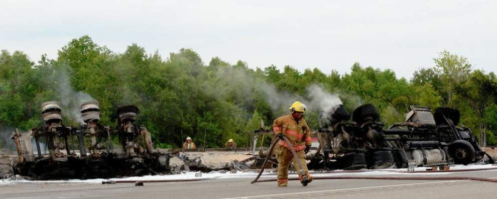 Police cite driver of truck that exploded on I-10 _lowres