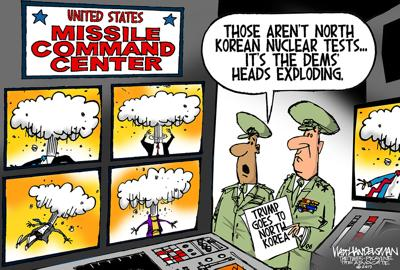 Walt Handelsman: Trump goes to North Korea