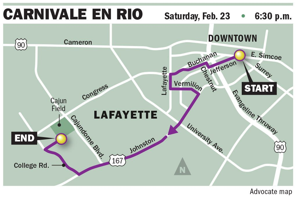 Barricades Going Up This Week Along Lafayette S Mardi Gras Parade