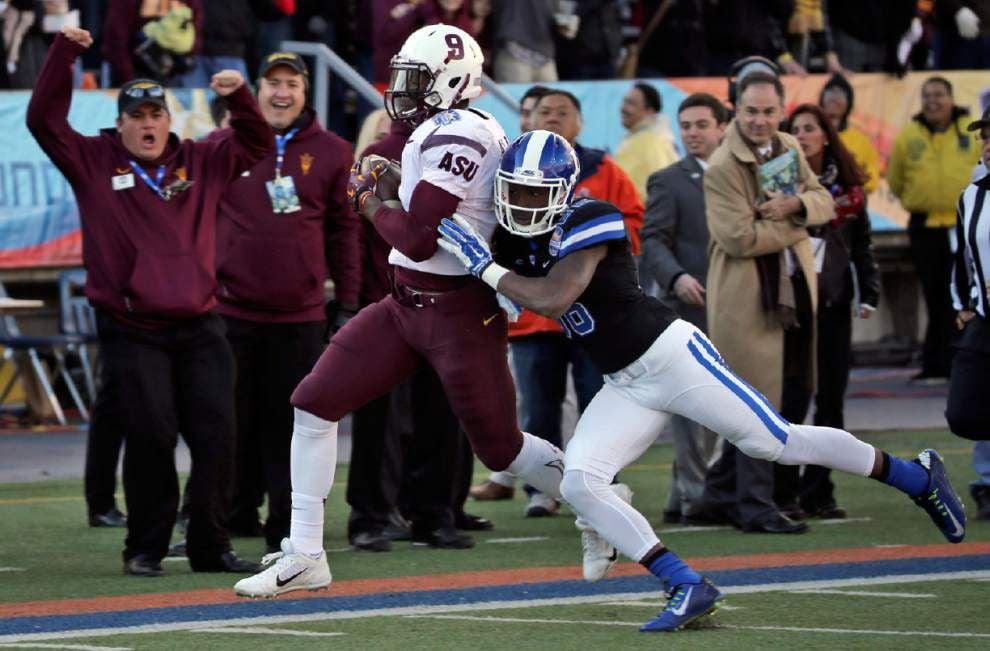 Bowl roundup: Ballage kickoff return helps Arizona St. rally past Duke _lowres