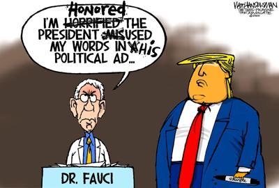 Walt Handelsman: Dr. Fauci gets the Sharpie Treatment