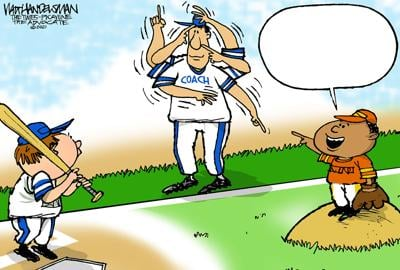 Can YOU hit a HOME RUN in Walt Handelsman's newest Cartoon Caption Contest? Give it a crack!!