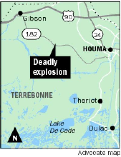 Explosion at natural gas facility in Gibson kills 3 workers, seriously injures 2 others _lowres