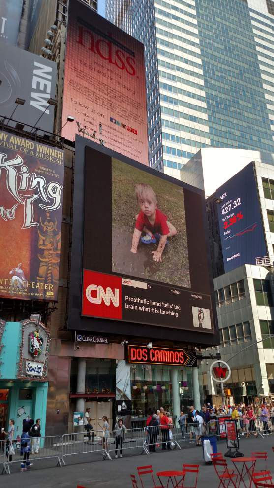 Parish boy's picture helps light up Times Square _lowres