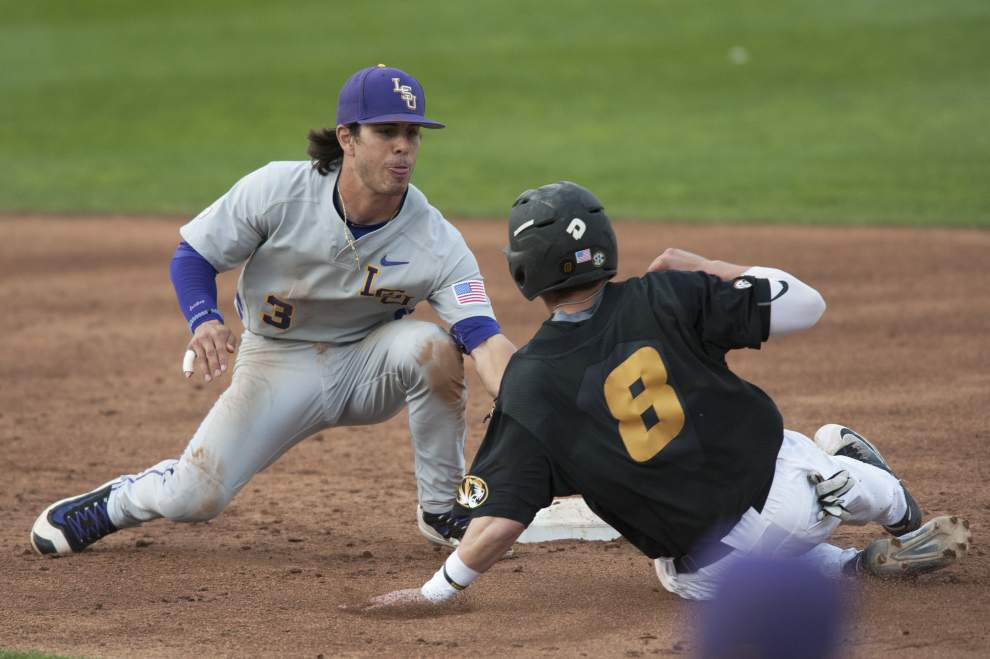 'Light's out' Hunter Newman, big fifth inning send LSU baseball to key win against Missouri _lowres