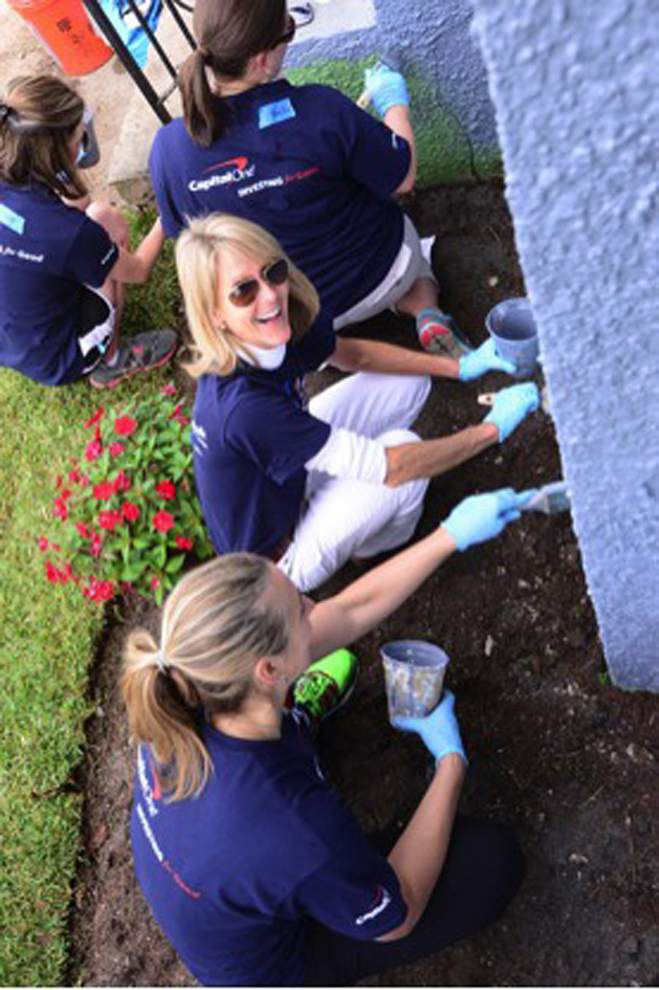 Capital One Bank associates help nonprofits with volunteer projects _lowres