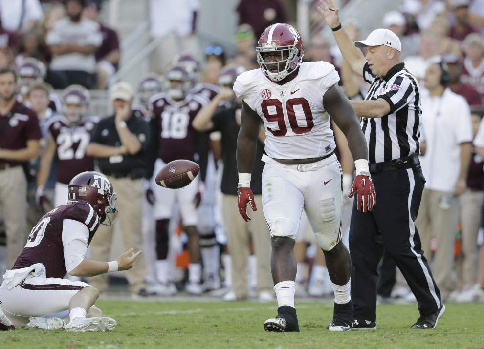 Alabama's A'Shawn Robinson, Jarran Reed possess power; Now can they provide pass-rush production in the NFL? _lowres