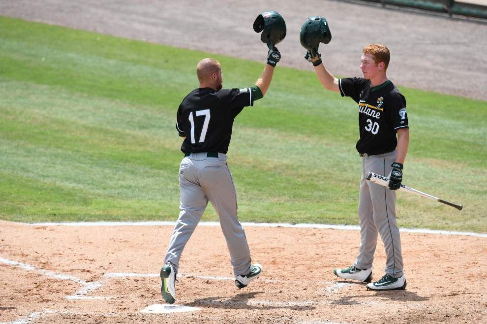 Led by Alex Massey, Tulane blanks Central Florida 5-0 to stay alive in AAC baseball tournament _lowres