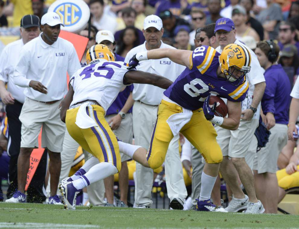 Photos: Game action from LSU spring game, offense, defense, and images captured from play at quarterback _lowres