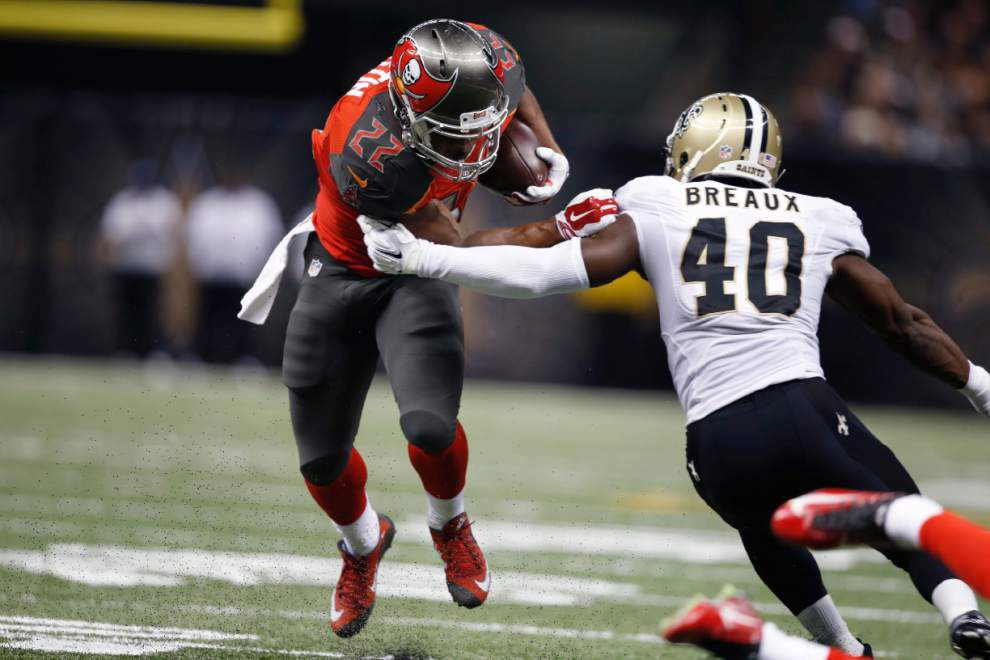 Saints cornerback Delvin Breaux credits work with boxing gloves for improved performance against Tampa Bay _lowres