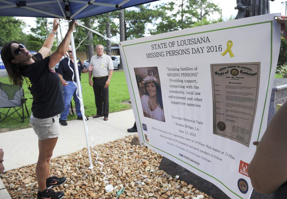 Louisiana missing person cases focus of march in Breaux Bridge _lowres