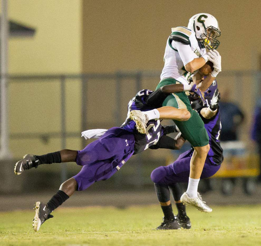 Crowley rice capital; now football capital? Notre Dame, Crowley High both have 10-0 records. _lowres