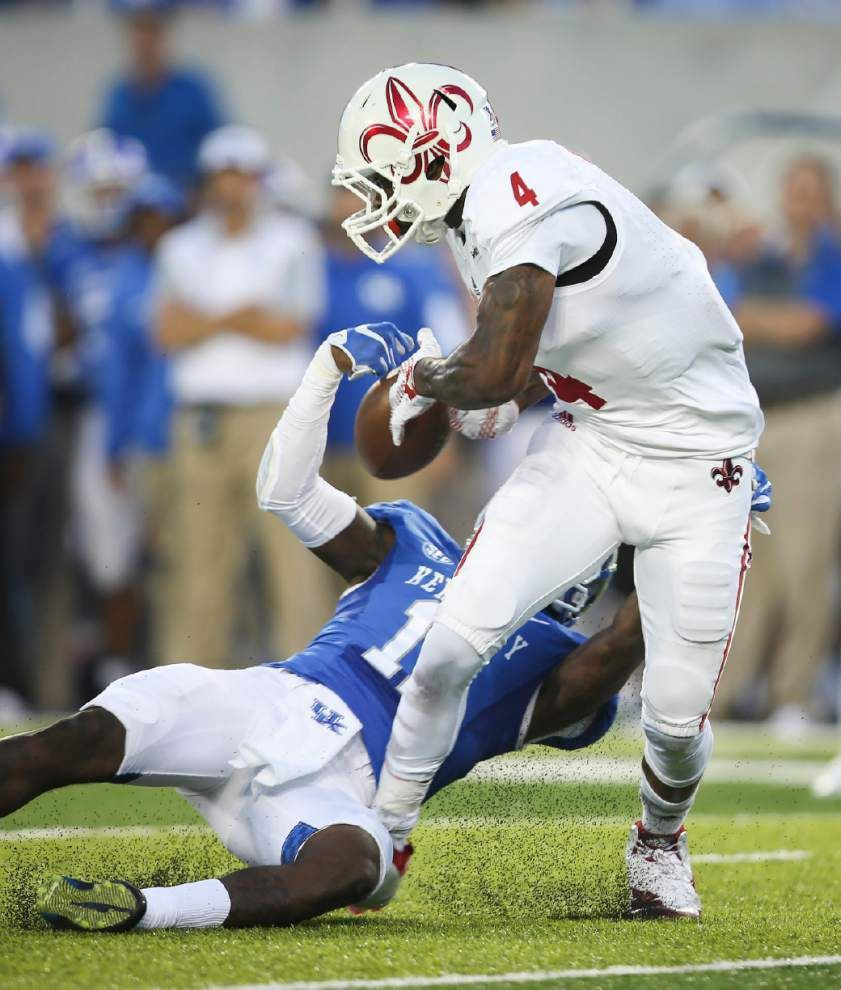 Ragin' Cajuns' Torrey Pierce and Jamal Robinson make an impact vs. Kentucky in their return from injuries _lowres