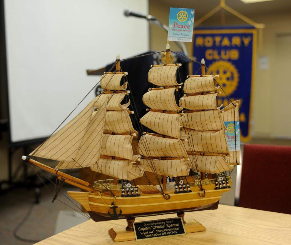 'Good Ship' Rotarian visits Zachary club _lowres