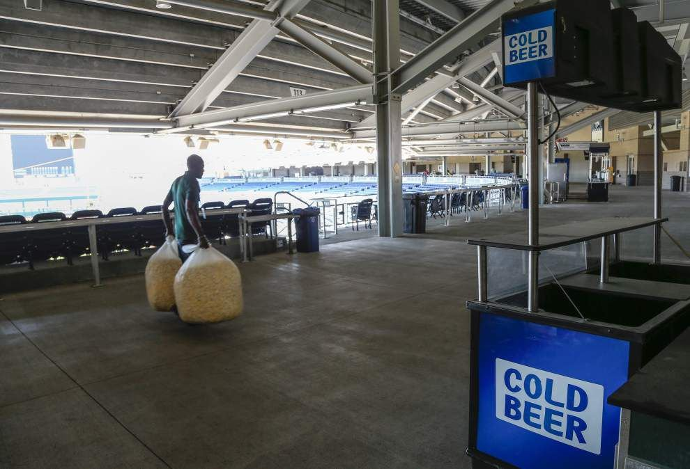 At the College World Series, the NCAA is selling beer inside the stadium _lowres