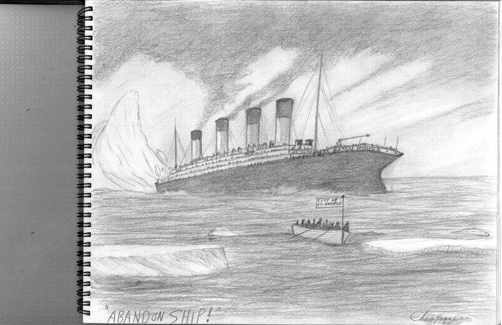 Local artist's 'Abandon Ship' work depicts Baton Rouge as Titanic, St. George as lifeboat _lowres