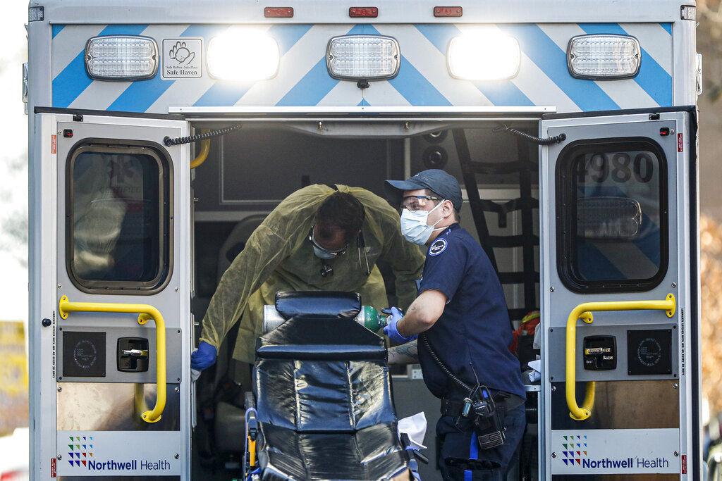 Coronavirus file photo stock of ambulance