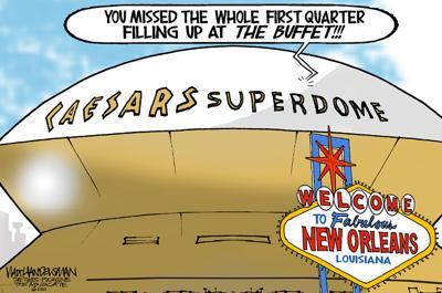 Walt Handelsman: Home Game at Rebranded Superdome