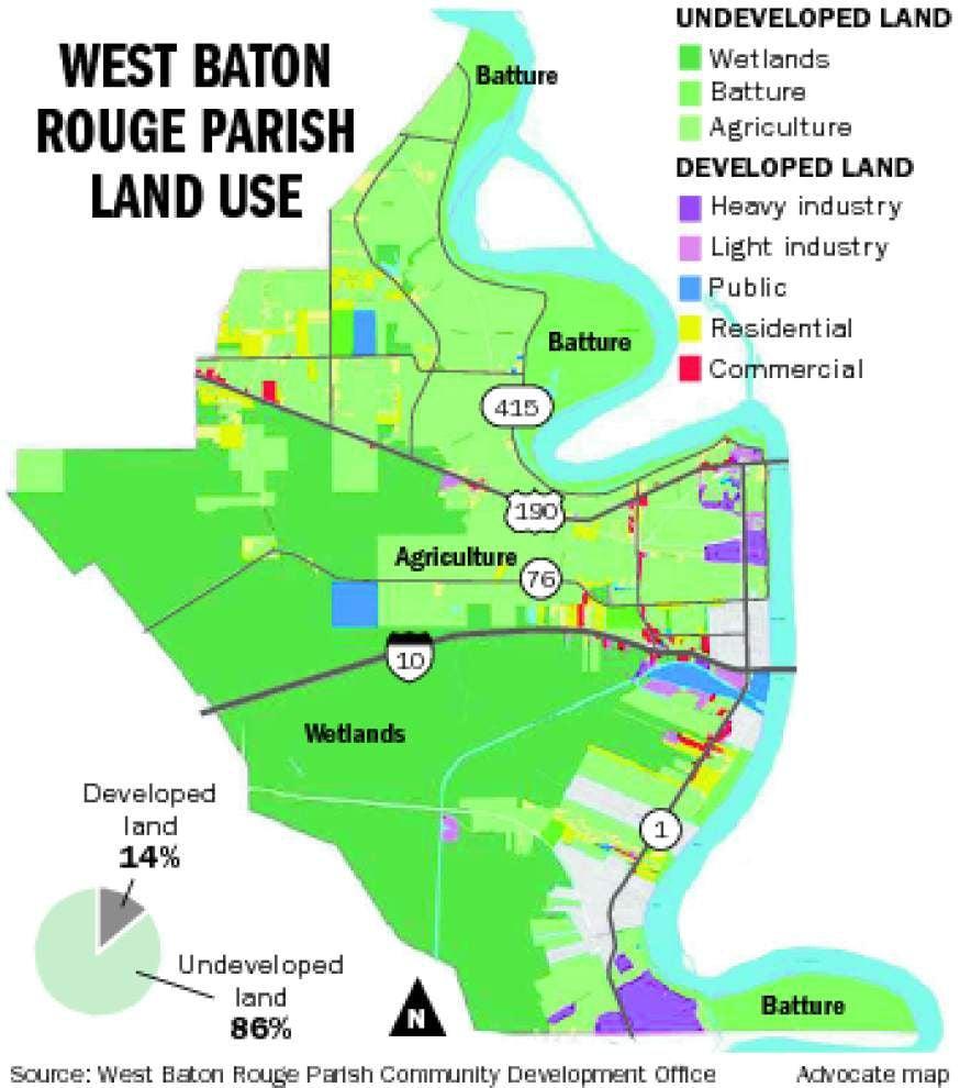 West Baton Rouge finds commercial development elusive; wetlands, population size seen among factors _lowres