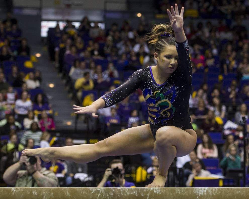 LSU gymnasts turn focus to NCAA regional meet _lowres